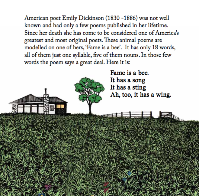 Emily Dickinson blurb